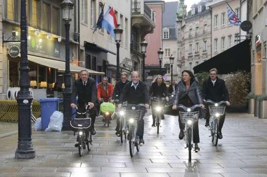 Lüksemburg AB Ulaştırma Bakanları bisiklet