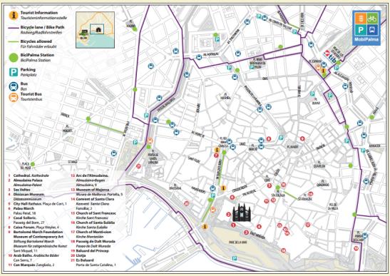 palma_bisiklet_yolları_haritası